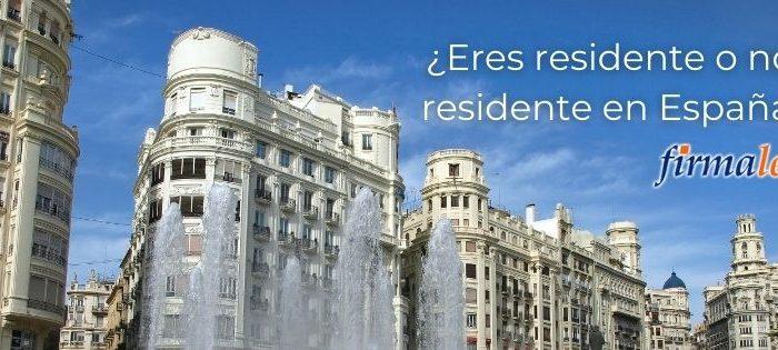 Eres residente o no residetne en España?